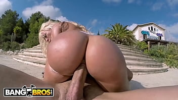 BANGBROS - Thicc Latin PAWG Blondie Fesser Riding Dick In Public