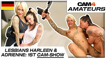 Harleen van Hynten and Adrienne Kiss: Naughty lesbian cam sex fun with 2 needy bitches! Cam4.com 13分钟