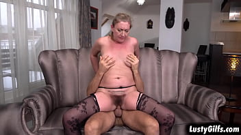 HORNY GILF Elizabeth Bee Is Watching Her Stud Mugur While Doing Some Exercise,watching Him Flex His Muscles While Feeling Very LUSTFUL