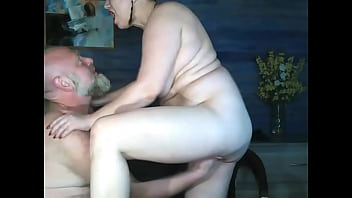 Real mature couple Addams-Family fuck in their suburban house; sucking nipples, dick & hard fisting!