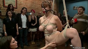 Busty slave rough lezdom public banged