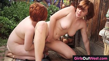 Free red bush sex videos Cute redheaded lesbians with hairy pussies meet and fuck