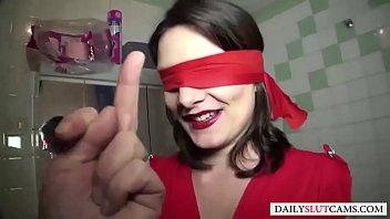 Blind folded hand job Gang bang amateur brunette whore anal blowjob hardsex - dailyslutcams.com
