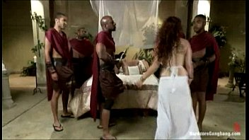 """Ganbanged """"Roman Royal"""" Fucked By Her Black Guards"""