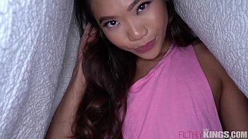 Hot Asian Sister Fucks Big Dick Brother in Pillow Fort porno izle