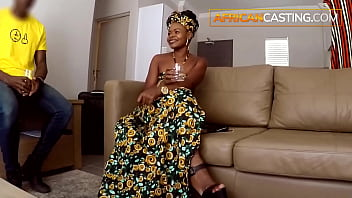 Ebony Amateur Hard Casting and Cum In Mouth 7 min