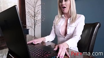 Blonde Busty Working Mom Fucks Son- Katie Monroe