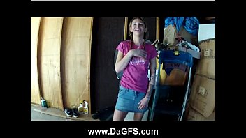 Emo sicily doggyfucked in the garage