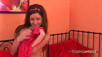 Dirty talking brunette enjoys teasing you with her delicious body
