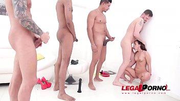 Kristy Black DP, DAP & DVP with monster cock team SZ2175