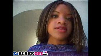 Sweet ebony Tiana has fun with big dongs