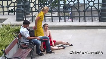 Busty Hard Caned And Fucked In Public