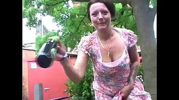 Crazy Mature Flashers Fucking Herlself With A Beer Bottle In Public
