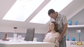 OLD4K. Marina Visconti needs old dick when preparing for exams at college