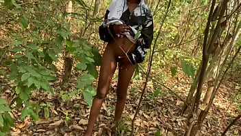 Nigeria Black Teen Seduced And Fuck A Forest Guard (Outdoor Sex)