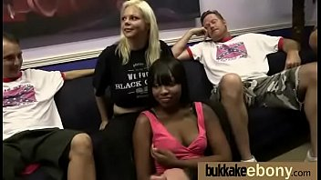 Ebony Gang bang and CUM FEEDING 22