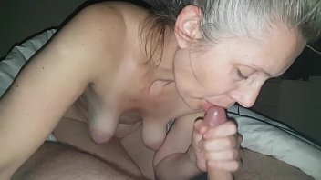 Blow cum - Hanysy hot 43 year old milf is doing a blow job cum in mouth