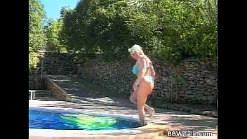 Great outdoor fucking by the pool