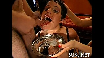 Filling babes' face holes with sperm 5 min