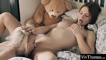 Sexy Blonde And Cute Redhead Eat Each Other's Pussies And Scissor Each Other