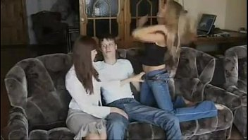 irina   olya - two beautiful russian girls have a threesome