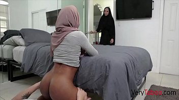 Ebony Sister In Hijab Sins With Brother- Milu Blaze