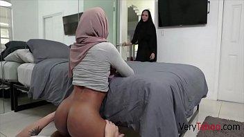 Ebony Sister In Hijab Sins With Brother- Milu Blaze - 69VClub.Com