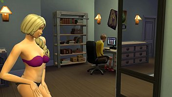 Blonde Mom Catching Up Her Teen Son Masturbating In Front Of The Computer thumbnail