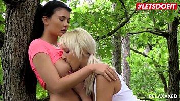 LETSDOEIT - #Katy Rose #Lucy Li - Czech Lesbian Couple Makes Love Right In The Woods