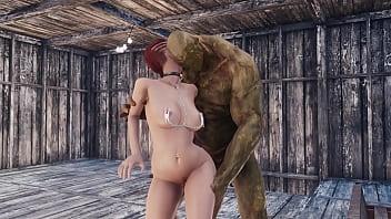 Super mutant fucks redheaded girl...