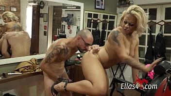 Melissa Pitanga dando pro Barbeiro