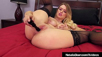 Masturbation Station Natalia Starr Stuffs Muff With Spiral!