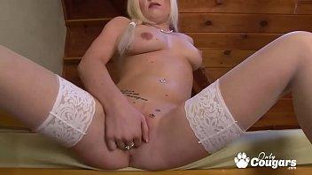 Andreya Diamond Finger Bangs Herself In Stockings 21 min