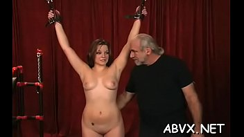 Marvelous cutie is playing with her massive tits her