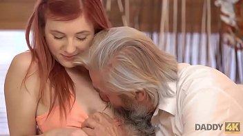 DADDY4K. Die entzückende Vanessa Shelby kommt dem bärtigen Vater ihres Freundes näher