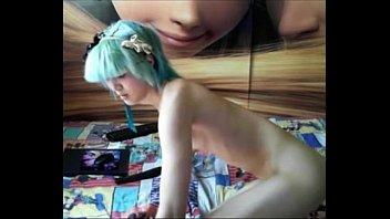 Skinny trap blue hair on cam - sluttycams.net