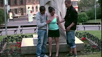 Extreme public street sex with a cute teen girl in the center of the city