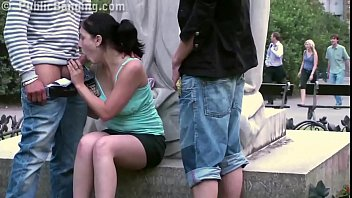Extreme teen center - Extreme public street sex with a cute teen girl in the center of the city
