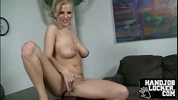 Big tit blonde handjob