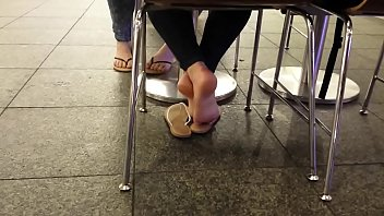 Cams4free.net - Candid White Girl Feet in Food Court 14 min