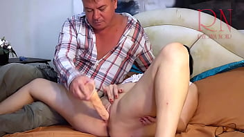 Tight pussy for a big dildo. The maid fucks with a dildo to orgasm. FULL The bitch loves hard fucking! A lady can cum several times