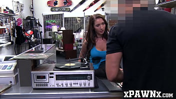 Big breasted babe with tattoos fucks a well hung pawnbroker
