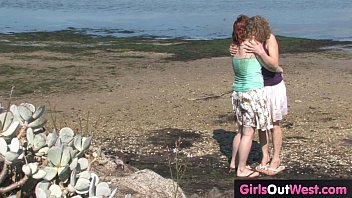 Girls Out West - Hairy Aussie lesbians fuck outdoors