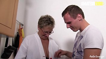 Amateur Euro - German Busty Granny Erna Craves For Young Dick