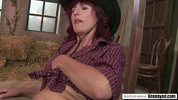 Old country woman fucks in the barn thumbnail