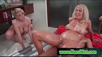 slippery nuru massage orgasm with Justin Hunt & Erica Lauren