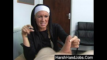 Nun gives handjob Religious rage