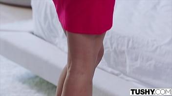 TUSHY Gorgeous Kira Noir loves to celebrate with anal sex