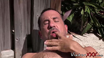 8 inches of gay dicks - Daddy with big dick love solo masturbation outdoor