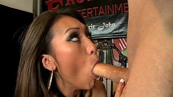 Asian beauty Jayden Lee doing best blowjob and fucks like wild cougar 22 min